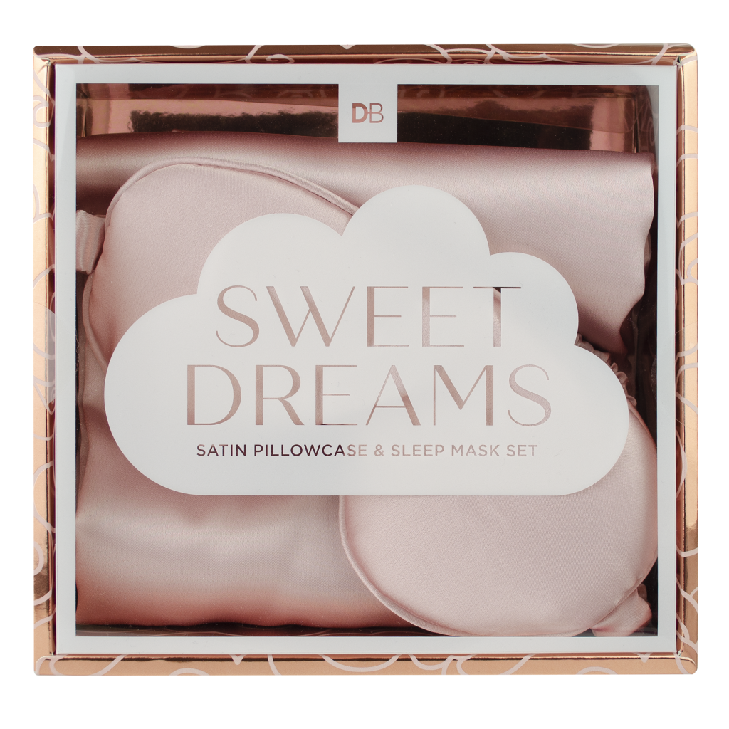 Designer Brands Sweet Dreams Satin Pillowcase & Sleep Mask | WholeLife Pharmacy & Healthfoods
