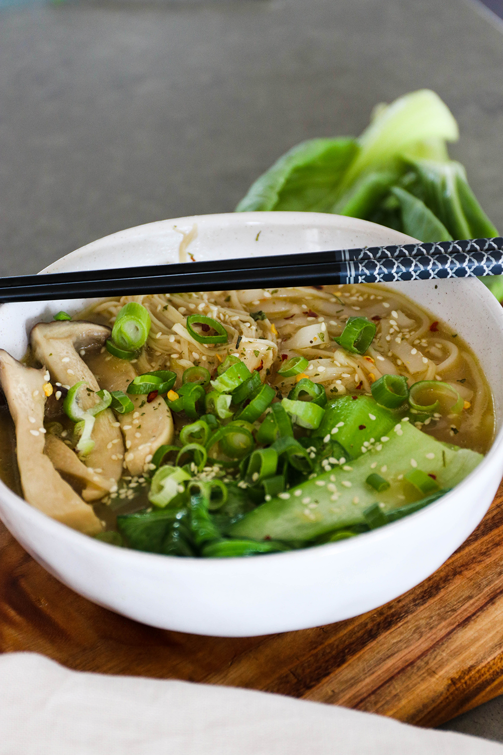 Asian Veggie Noodle Soup with Bone Broth | WholeLife Pharmacy & Healthfoods