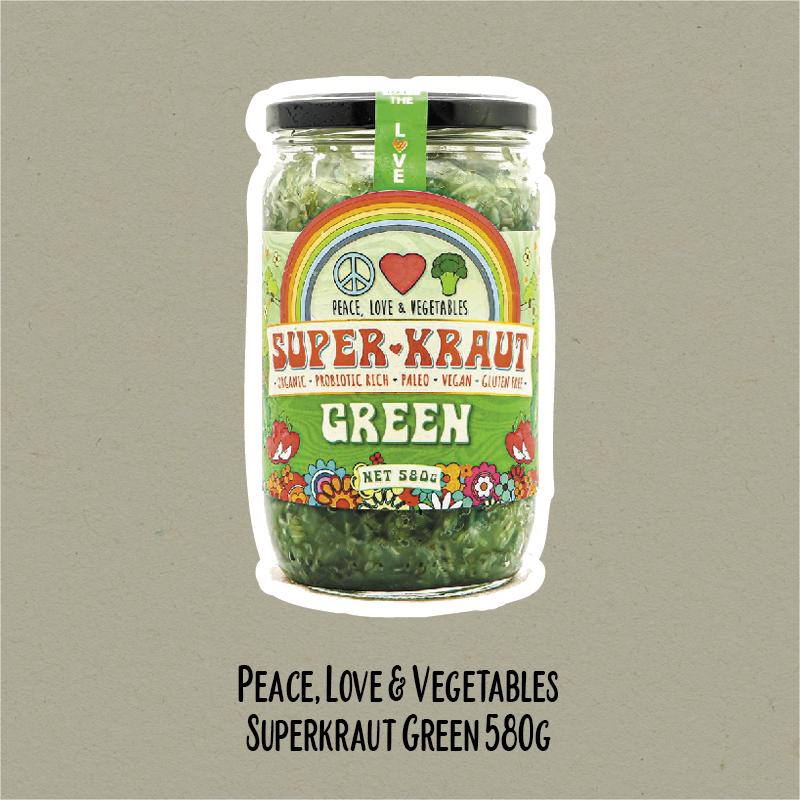 Peace, Love & Vegetables Superkraut | WholeLife Pharmacy & Healthfoods