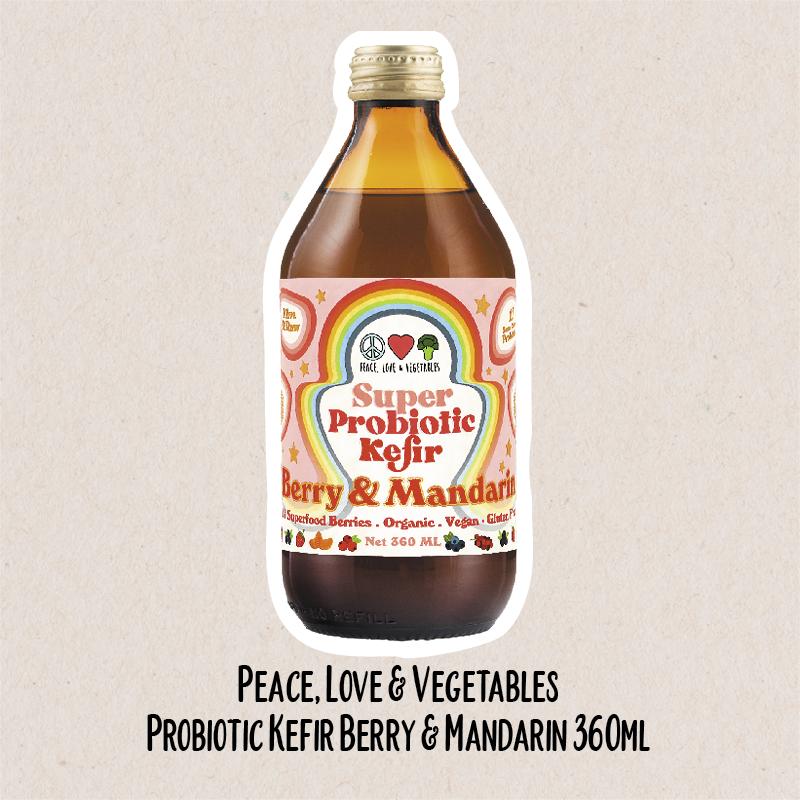 Peace, Love & Vegetables Probiotic Kefir Berry & Mandarin | WholeLife Pharmacy & Healthfoods