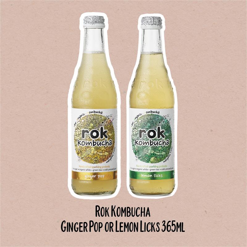 Rok Kombucha Ginger Pop or Lemon Licks | WholeLife Pharmacy & Healthfoods