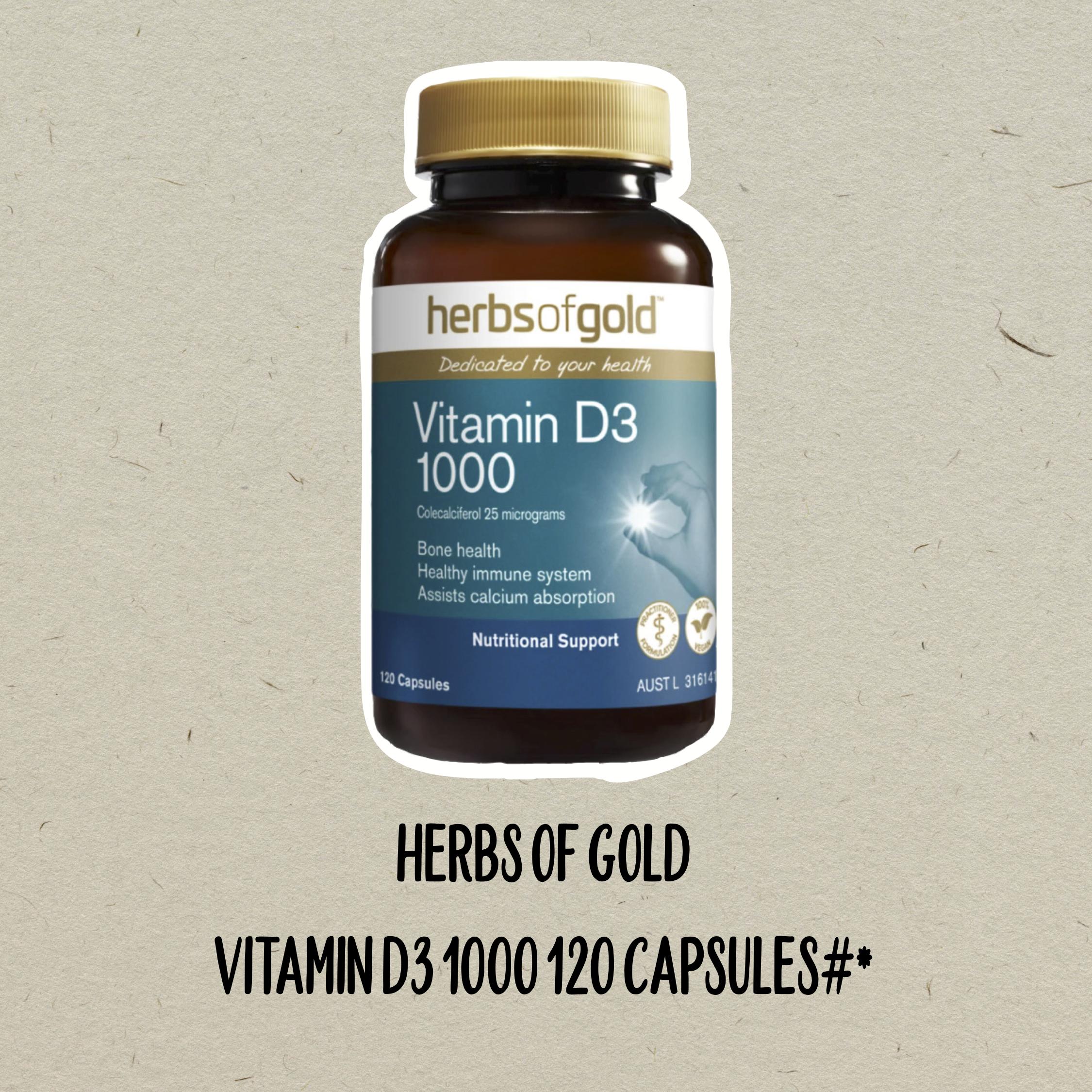 herbs of gold vitamin d3 1000 immunity