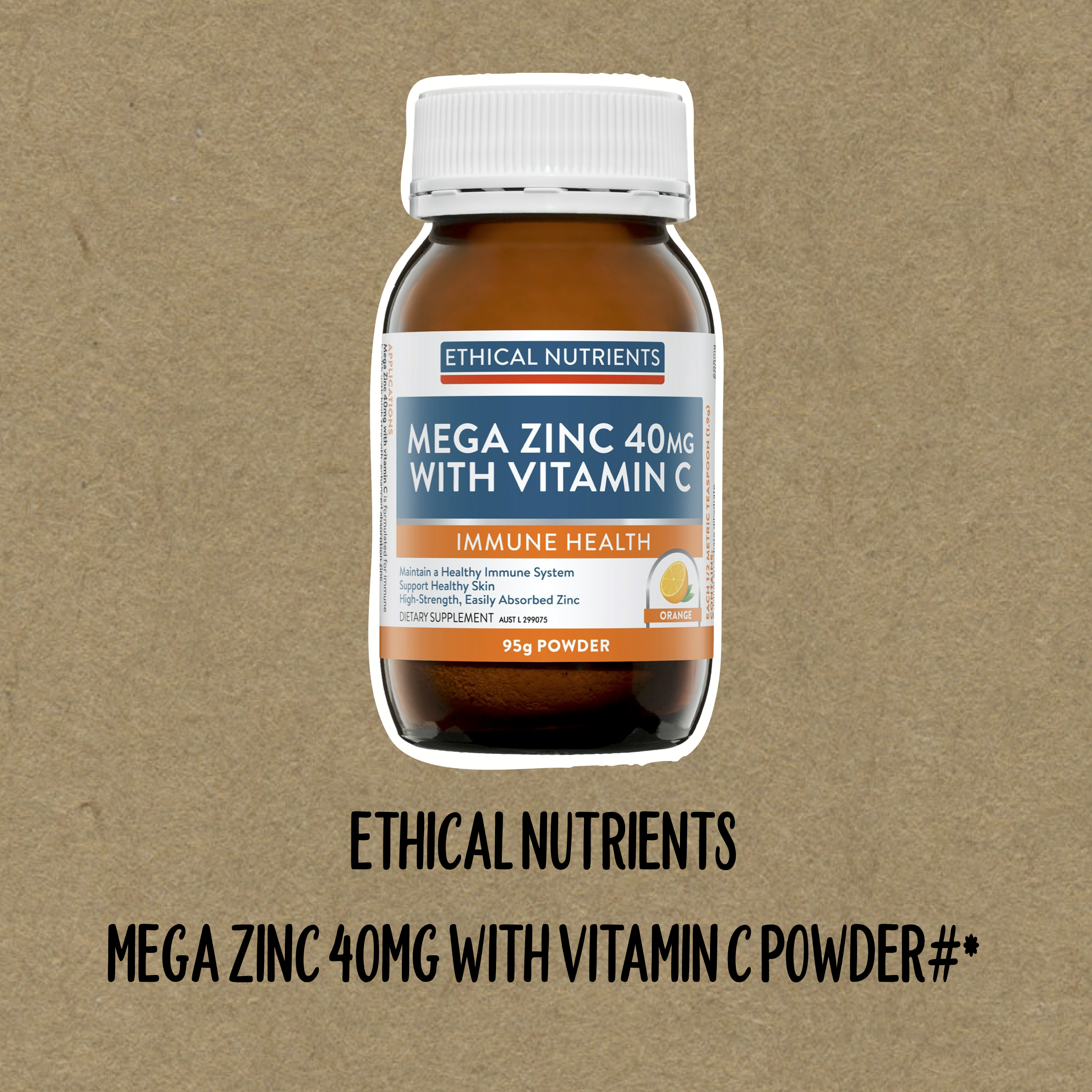 Naturopath Recommended Ethical Nutrients Mega Zinc